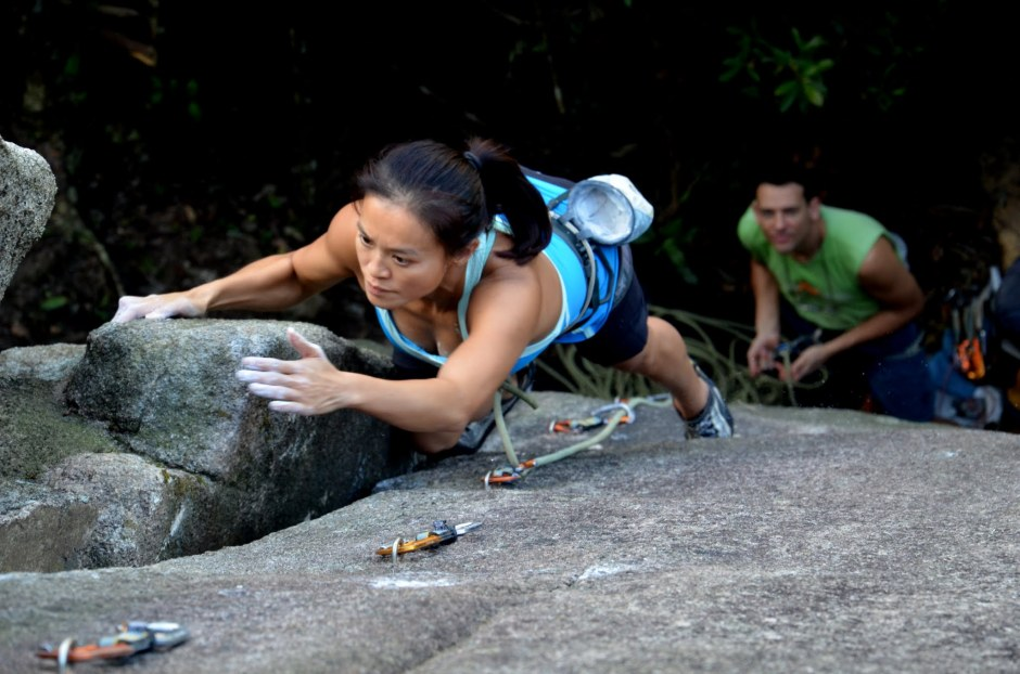 Donna Kwok on European Route (F6a+) Photo: Jonathan Knipper