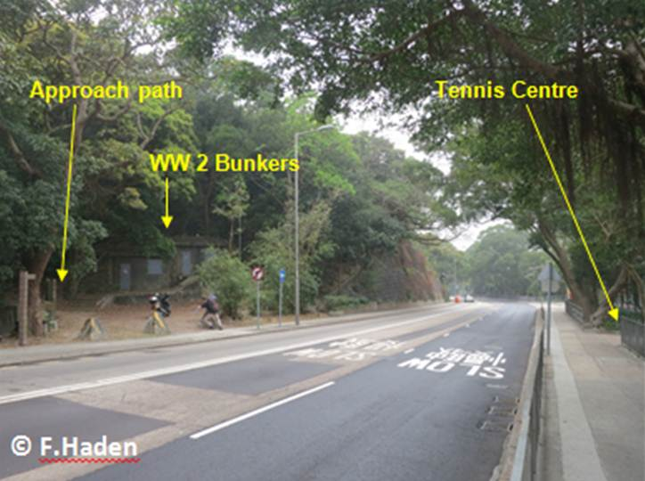 Bunkers opposite the tennis center on Wong Nai Chung Gap road