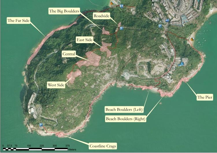 ChungHomKok Bouldering Areas